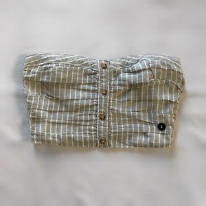 Abercrombie & Fitch striped bandeau crop top